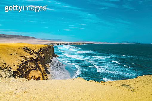 Desert and ocean in Peru
