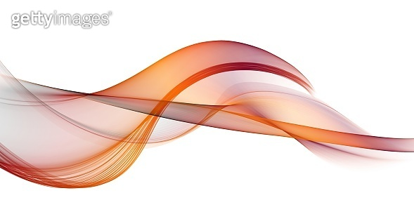 Abstract smooth color wave . Curve flow red motion illustration