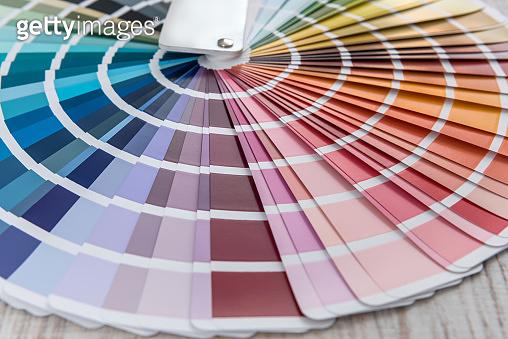 Choice colorful paper spectrumfor design. colour palette for patern