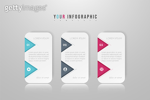 Infographic concept design with 3 options, steps or processes. Can be used for workflow layout, annual report, flow charts, diagram, presentations, web sites, banners, printed materials.