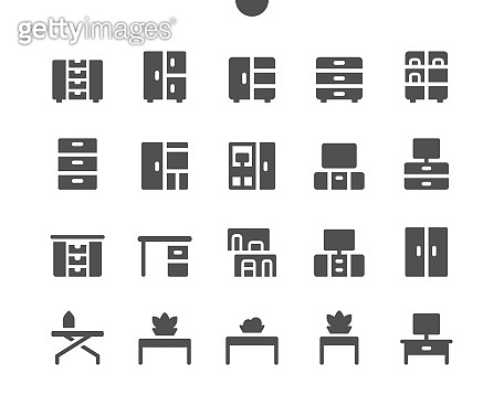 Furniture v1 UI Pixel Perfect Well-crafted Vector Solid Icons 48x48 Ready for 24x24 Grid for Web Graphics and Apps. Simple Minimal Pictogram
