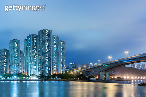 High rise residential building and bridge