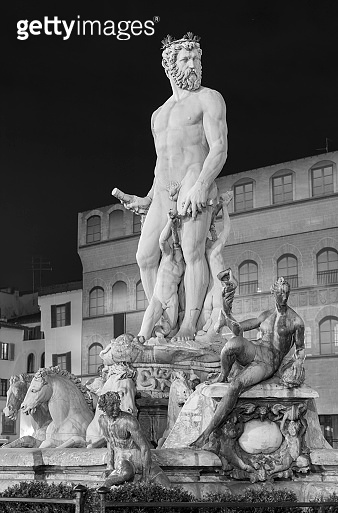 fountain of Neptune in Florence, Italy