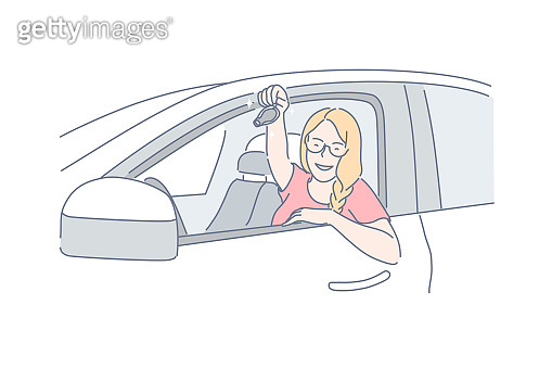 Car, buy, passing driving concept