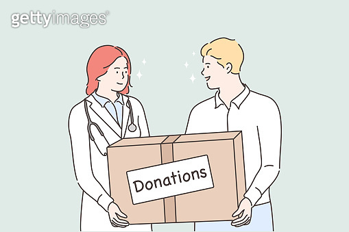 Medicine, health, help support, donation concept