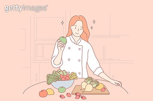 Health, vegan, food, cooking concept