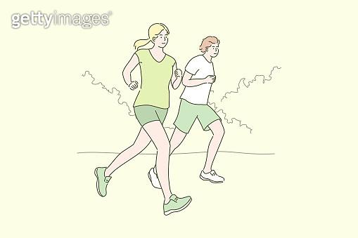 Sport, jogging, workout concept