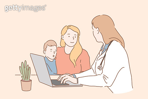 Visiting pediatrician concept