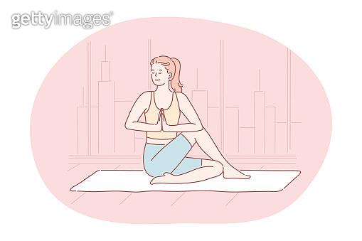 Yoga, meditation, healthy active sport lifestyle concept