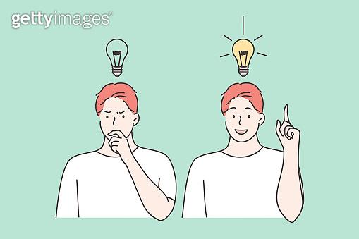 Thinking, idea, success, business, imagination set concept