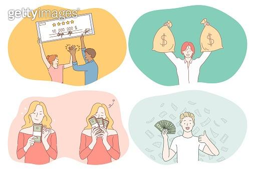 Money, wealth, jackpot concept