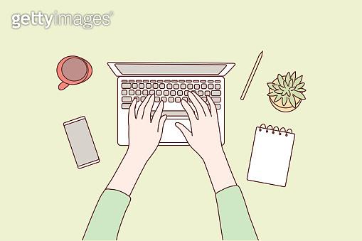 Technology, social media, network, work, business concept