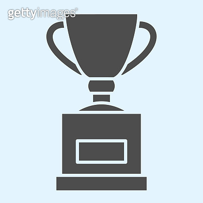 Cup solid icon. Winner trophy, champions award. Sport vector design concept, glyph style pictogram on white background, use for web and app. Eps 10.