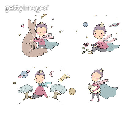 Little Prince.A fairy tale about a boy, a rose, a planet and a fox.