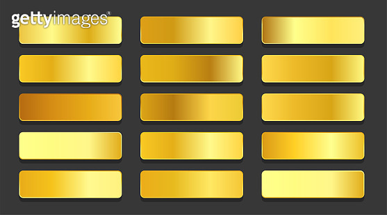 yellow gold gradients metallic gradients set design