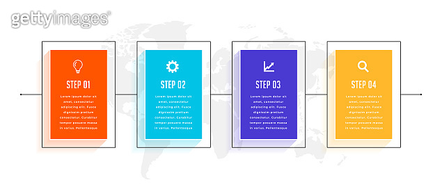 four steps timeline business infographic template design