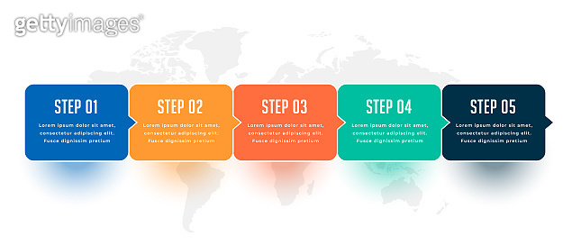 five steps modern business infographic template design