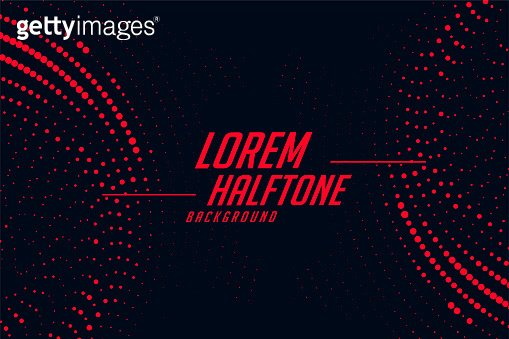 red and black circular halftone abstract background