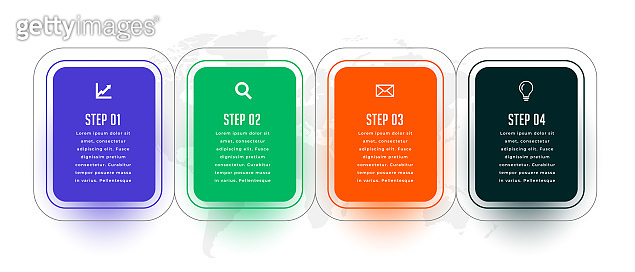 four steps modern infographic template