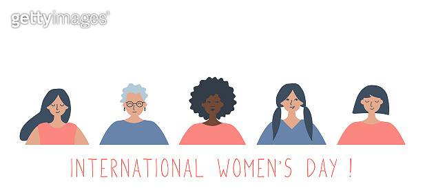 International Women's Day concept. Women's community
