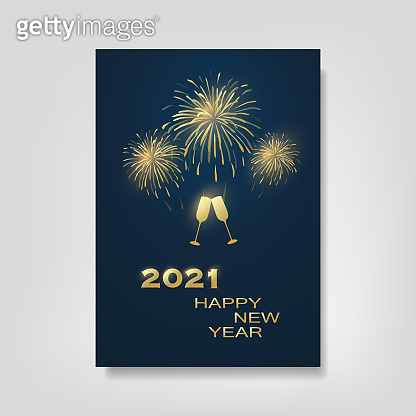 New Year Flyer, Card or Cover Design - 2021