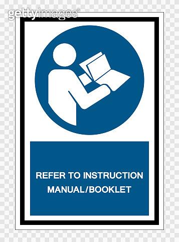 Refer Instruction Manual Booklet Symbol Sign Isolate on transparent Background,Vector Illustration
