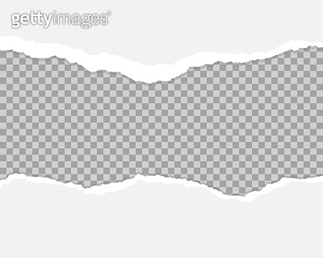 White and gray realistic horizontal paper