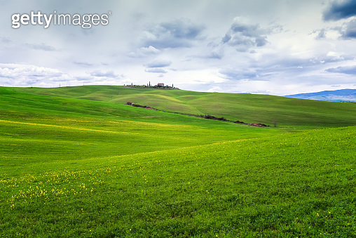 Green rolling hills of Tuscany