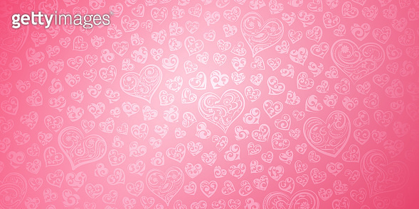 Background of hearts on Valentine's day