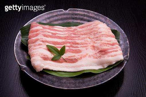 Pork belly meat slices