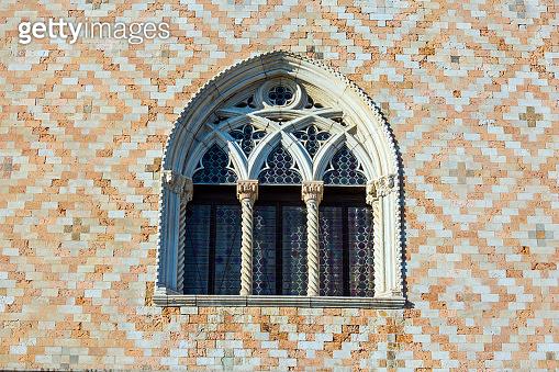 Semicircular ornate window