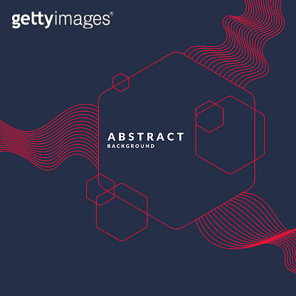 Trendy abstract background. Composition of geometric shapes and waves.