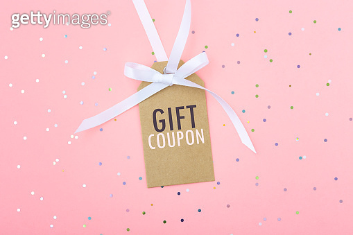 Gift discount coupon tag
