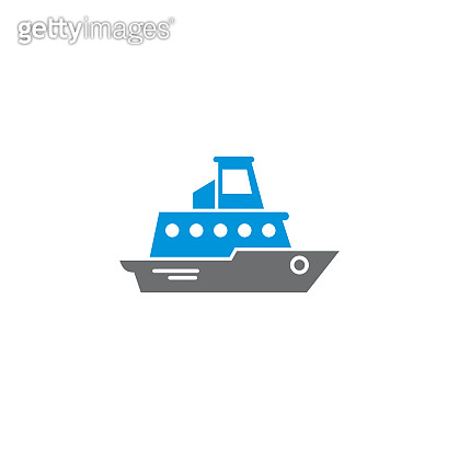 Ship related icon on background for graphic and web design. Creative illustration concept symbol for web or mobile app.