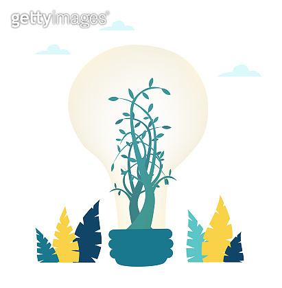 Hand of businessman holding and growing green tree. Success in business