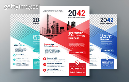 Corporate Flyer Design Template in A4. 3 Color ways included. Can be adapt to Brochure, Annual Report, Magazine,Poster, Corporate Presentation, Portfolio, Banner, Website.