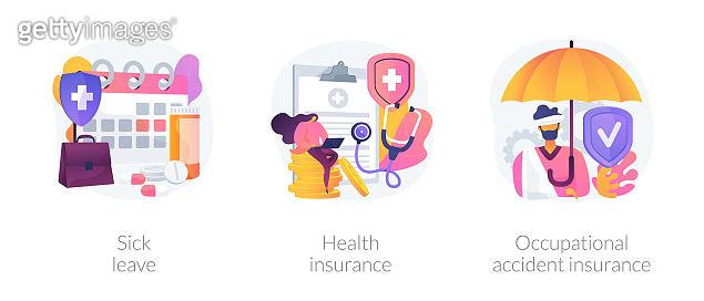 Worker healthcare system vector concept metaphors