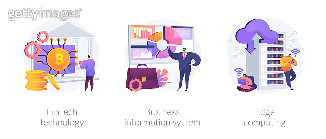 IT infrastructure and technology integration abstract concept vector illustrations.