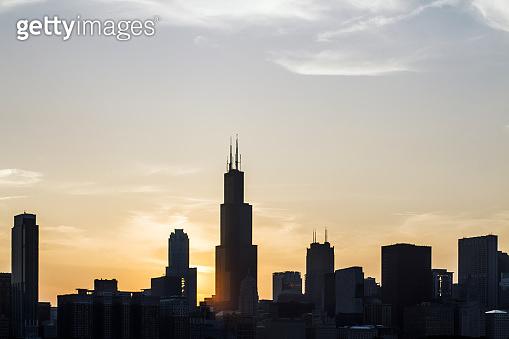 Backlit Chicago wallpaper