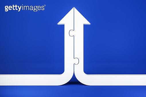 White arrow shape puzzle