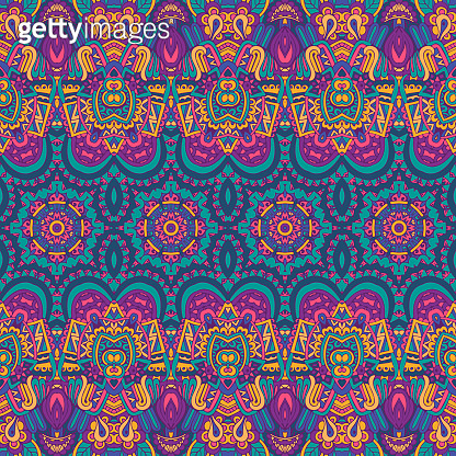 Colorful Tribal Ethnic Festive Abstract Floral Pattern