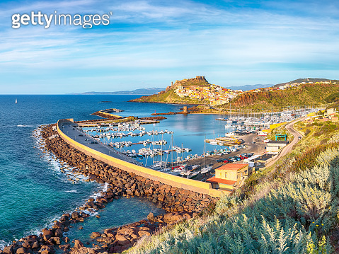 Picturesque view of Medieval town of Castelsardo