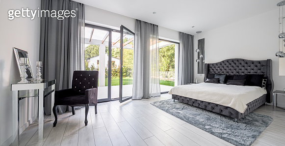 Glamour and romantic style bedroom interior