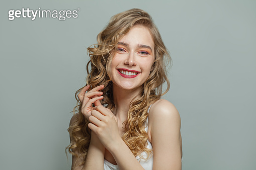 Pretty girl with cute smile