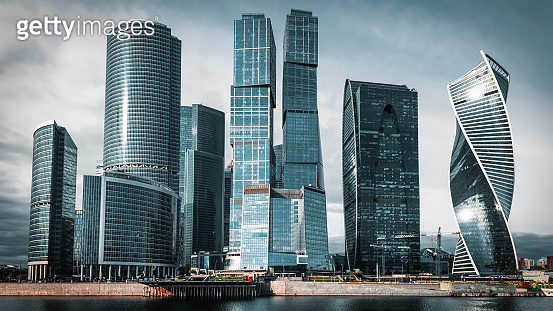 Moscow city. Moscow International Business Center , Russia.