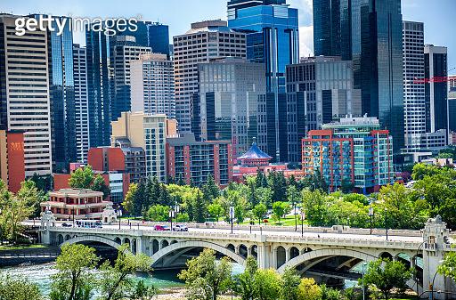 Modern architecture in Calgary city, Alberta, Canada