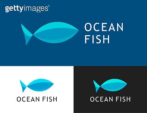 Ocean fish, Vector Logo for Fish market