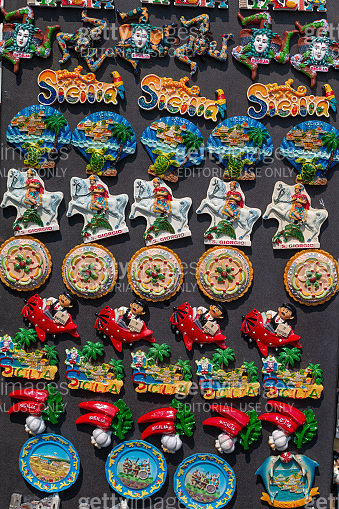Magnet Souvenirs in Taormina, Sicily