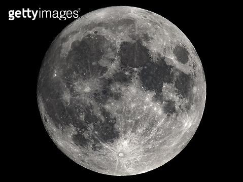 Full moon seen with telescope