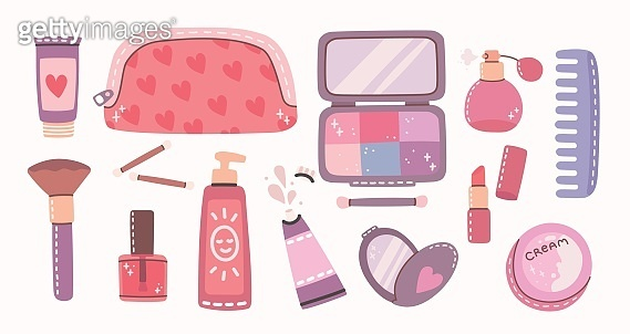 Cosmetics and body care illustrations